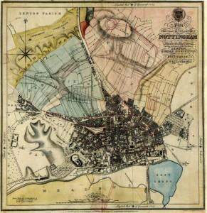 Nottingham c.1833 Courtesy of Nottinghamshire Archives