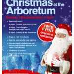 Christmas in the Arboretum, Sunday 15th December