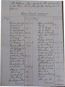 Race Committee Accounts for 1847, reproduced courtesy of Nottinghamshire Archives, CA 3607