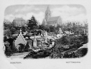 Post card of Church Cemetery, Rock Valley c.1900
