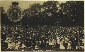Notts. Patriotic Fair, Whit Monday, 1917. Courtesy of A P Knighton and www.picturethepast.org.uk