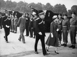 Queen and D. of Edinburgh inspect the South Notts Hussars on The Forest, 1955 Courtesy of Nottingham Evening Post and www.picturethepast.org.uk