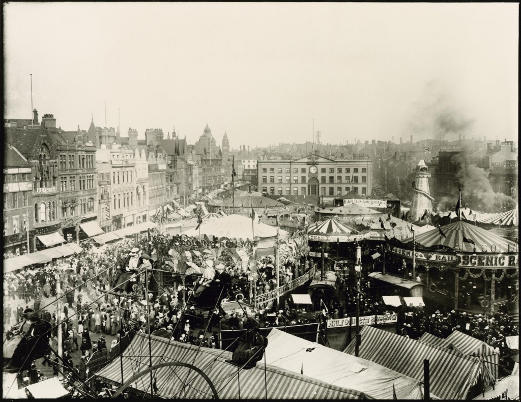 Goose Fair, Market Place, Nottingham, 1914 Courtesy of Nottingham City Council and www.picturethepast.org.uk