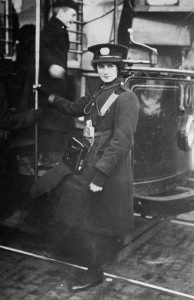 One of the 1st women conductors employed by the City Transport Dept - between 1915-18 Courtesy of Nottingham City Council and www.picturethepast.org.uk