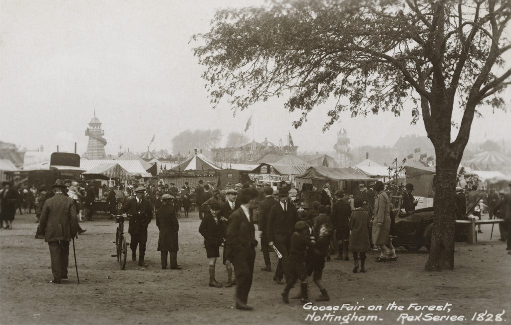The Goose Fair, Forest Recreation Ground, Nottingham, 1928 Courtesy of Bernard Beilby and www.picturethepast.org.uk
