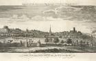 Nottingham from the South across the Meadows c.1750.  Courtesy of Nottingham City Council and www.picturethepast.org.uk