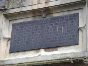 Waverley Street entrance lodge plaque commemorating the circumstances of the opening of the Arboretum Image: P Elliott