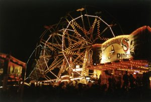 Goose Fair at night, 1984. Bernard Beilby and www.picturethepast.org.uk