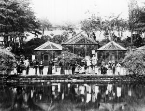 The Lake and Aviaries, c1898. J Buist and www.picturethepast.org.uk