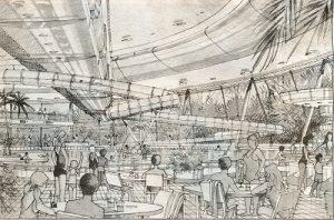 Leisure centre proposals for The Forest, c1999. Nottingham City Council