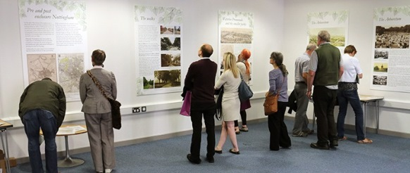 The Social World of Nottingham's Historic Green Spaces Exhibition, hosted at Nottingham Local Studies Library, August 2016.