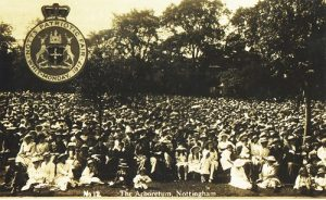 Nottingham Patriotic Fair, Whit Monday, The Arboretum, 1917. AP Knighton and www.picturethepast.org.uk